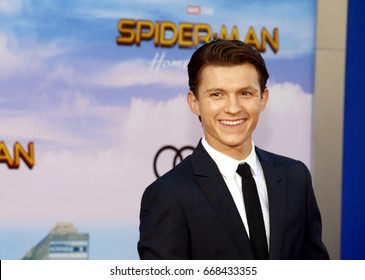 Tom Holland at the World premiere of 'Spider-Man: Homecoming' held at the TCL Chinese Theatre in Hollywood, USA on June 28, 2017.