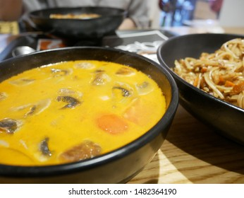 Tom Yum Goong is a traditional Thai soup