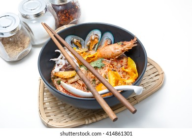 Tom Yum Kung Noodle, popular Thai dish cuisine