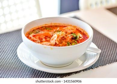 Tom yum noodle. Tom yum. Thai Food.