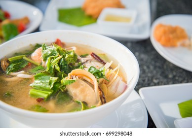 Tom yum seafood soup,Tom yum  soup  the best of Thai food and has been popularised around the world.