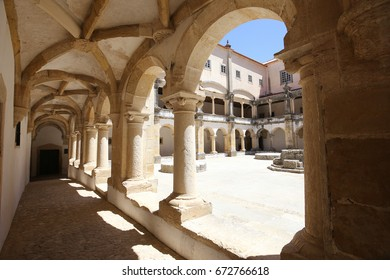 TOMAR, PORTUGAL, JUNE, 23, 2017 : architectural details of  Convent of Christ, june 23, 2017, in Tomar, Portugal
