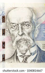 Tomas Garrigue Masaryk on czech banknote nominal value five thousand crowns, money business banking concept