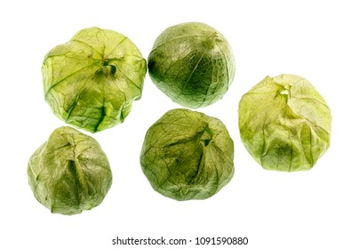 The Tomatillo or Mexican Husk Tomato, Physalis philadelphica, originated in Mexico and are a staple of Mexican cuisine, eaten raw or cooked, particularly in salsa verde