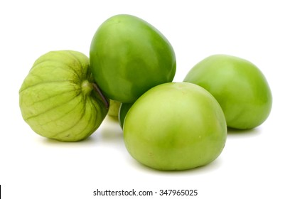 tomatillos isolated on white