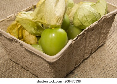 Tomatillos In a Recycled Box
