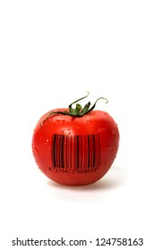 Tomato with barcode