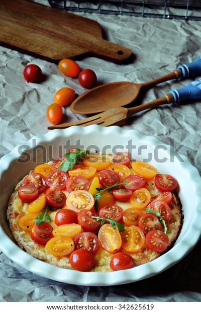 Tomato Cheesecake Stock Photo Edit Now 342625619