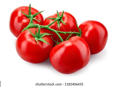 Tomato. With clipping path.