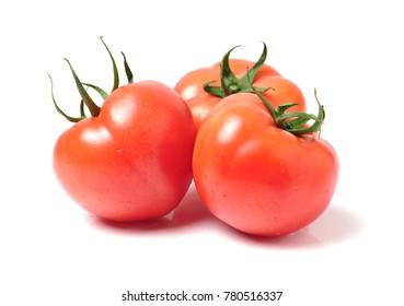 Tomato isolated on white.