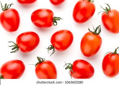 Tomato isolated on the white background.