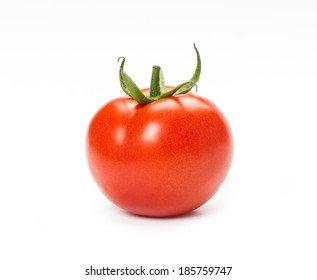 Tomato isolated on a white background.