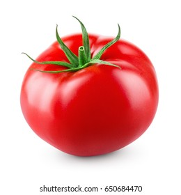 Tomato isolated on white background. With clipping path. Full depth of field.