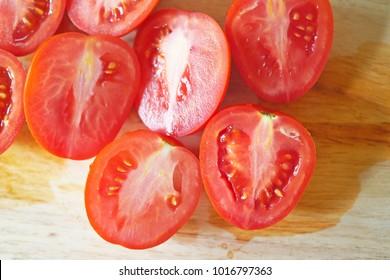 Tomato on  Chopping board