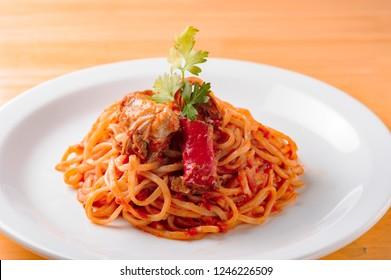 Tomato pasta cooked with fresh tomato
