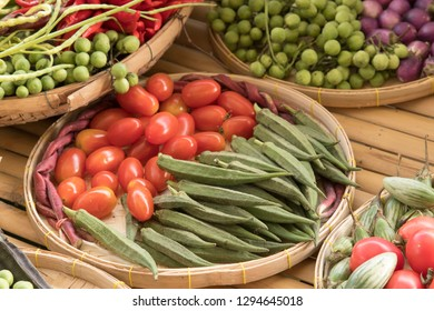 Tomato and pea eggplant