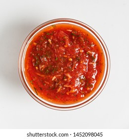 tomato sauce in the bowl