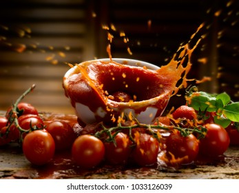 tomato sauce cherry tomatoes and basil