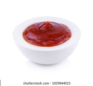 tomato sauce or ketchup isolated on a white background