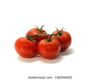 tomato, shrub tomatoes with stems, small, white background