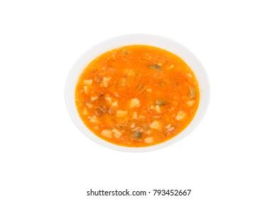 tomato soup isolated on white background