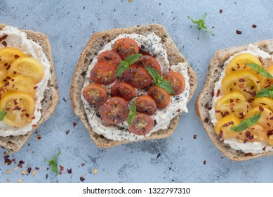 Tomato Toast with Cashew Cheese (Healthy, Vegan & Dairy-Free)