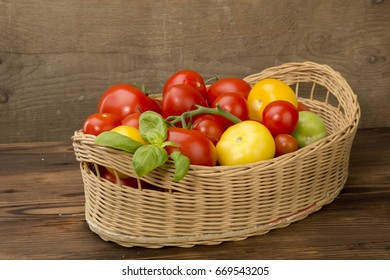 Tomato vegetables red delicious useful various  foreshortening wooden background