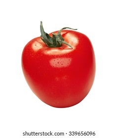 tomato with water drops