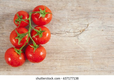 tomato in wood table