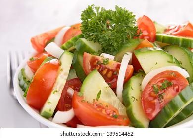 tomato,cucumber and onion salad