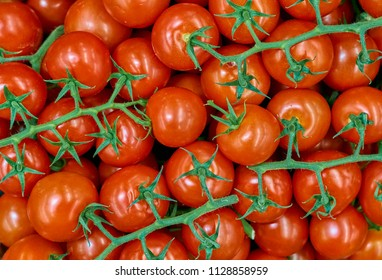 Tomatoes background. Group of red tomatoes.