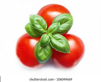 tomatoes and basil