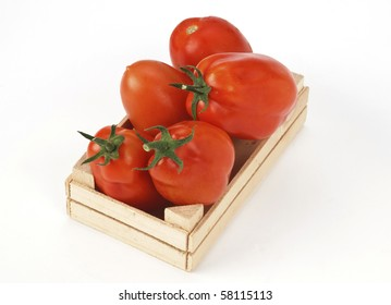 Tomatoes in the boxes