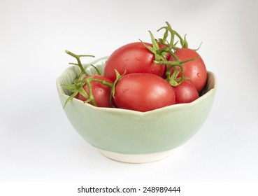 Tomatoes in the green bowl