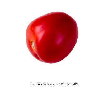 The tomatoes isolated on the white background