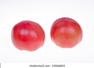 Tomatoes, isolated on a white background