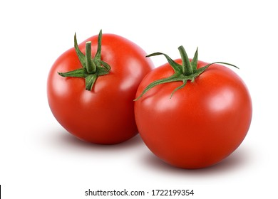 Tomatoes isolated on white background. with clipping path. Full depth of field. - Shutterstock ID 1722199354