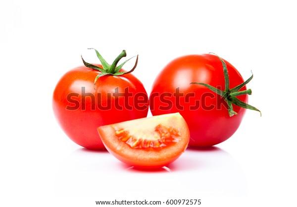 Tomatoes isolated on white background.  tomato