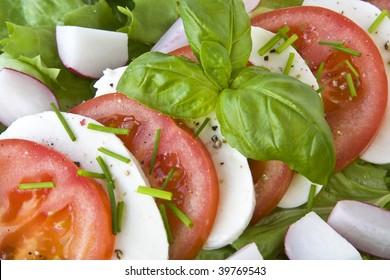 Tomatoes and mozzarella.