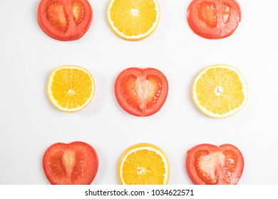 Tomatoes and oranges creative