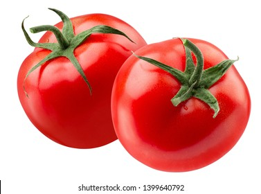 tomatoes with slice isolated on a white background