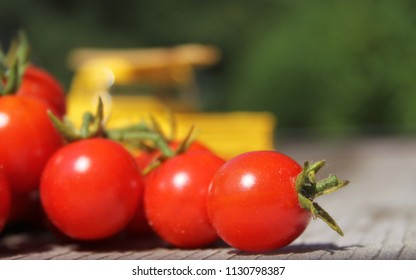 Tomatoes and Vintage Yellow Truck