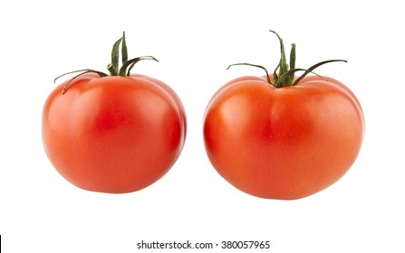 tomatos isolated on a white background