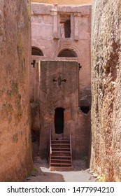 Tomb of Adam entrance gate to the north western complex of rock hewn churches in Lalibela. Ethiopia