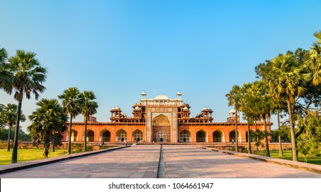 Tomb of Akbar the Great at Sikandra Fort in Agra - Uttar Pradesh, India