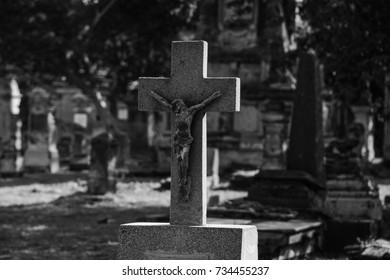 tomb crucifix