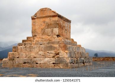 Tomb of Cyrus the Great (6th century BC). Pasargadae, Iran