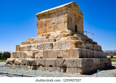 The Tomb of Cyrus is the monument of Cyrus the Great approximately 1 km southwest of the palaces of Pasargadae, Shiraz - Iran