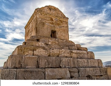 The Tomb of Cyrus (Persian: آرامگاه کوروش بزرگ translit. ārāmgāh-e kurosh-e bozorg) is the monument of Cyrus the Great approximately 1 km southwest of the palaces of Pasargadae. According to Greek sou