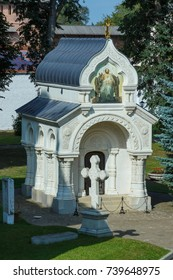 The tomb of Dmitry Pozharsky in Suzdal. Dmitry Pozharsky is the national hero of Russia.